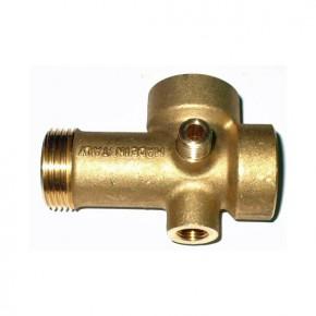 """Pěticestný mosazný ventil pro vodárny 1"""", 92mm"""